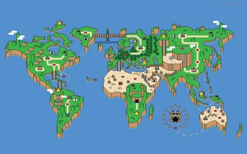 O mundo como em Super Mario Bros